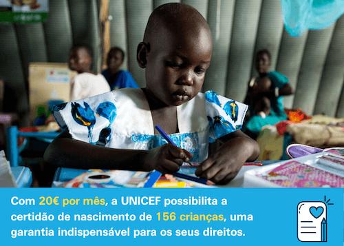 Torne-se AMIGO DA UNICEF